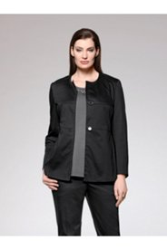 Silk Blend Seamed Stretch Blazer