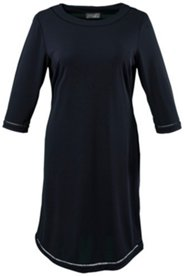 Faggoting Hem Knit Dress
