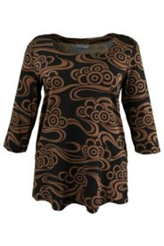 Swirl Print Knit Top