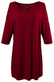 Accent Zipper Shoulder Nightgown