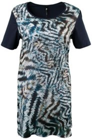 Graphic Print Front Knit Tunic Nightgown