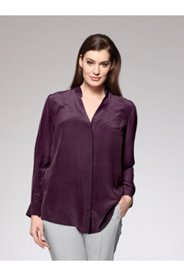 Silk Covered Placket Blouse