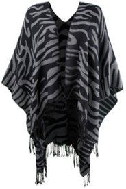 Animal Design Open Front Poncho