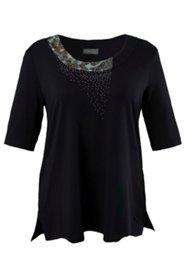 Leopard Inset Knit Top