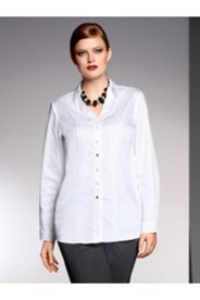 Mix Button Pintuck Shirt