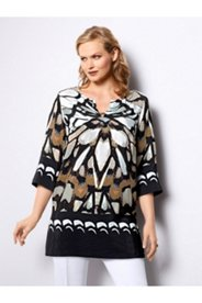 Abstract Butterfly Print Blouse