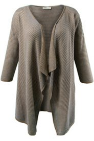 Eco Cotton Ribbed Cardigan Swing Sweater