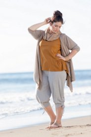Eco Cotton Tie Capri Pants