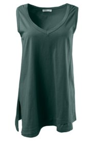 Eco Cotton Long Angled Hem Tank