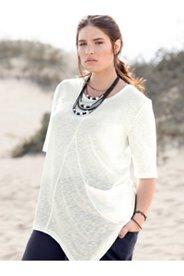 Asymmetric Hem Eco Cotton Top