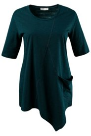 Asymmetric Hem Eco Cotton Top
