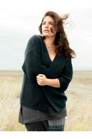 Eco Cotton Textured Knit Crop Cardigan Sweater