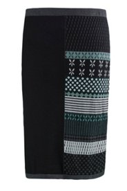 Eco Cotton Pattern Sweater Skirt