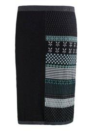 Eco Cotton Pattern Sweater Skirt