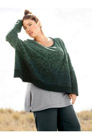 Eco Cotton Space Dye Look Crop Sweater
