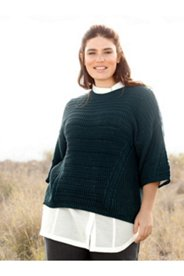Eco Cotton Seamed Textured Sweater