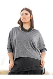 Eco Cotton Boatneck Curved Hem Top