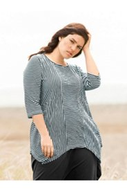 Eco Cotton Striped Seamed Top