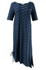 Eco Cotton Seamed Stripe Dress