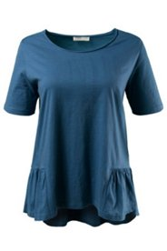 Eco Cotton Ruffle Hem Top