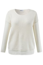 Diamond Stitch Inset Sweater