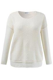 Diamond Stitch Inset Sweater