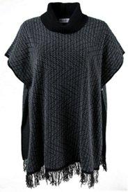 Fringed Sweater Poncho