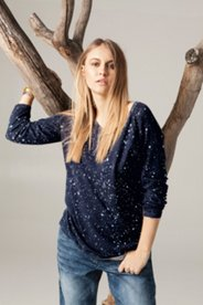 Night Sky Printed Sweater