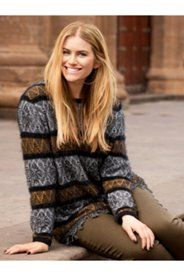 Fringed Striped Sweater