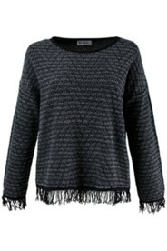 Fringe Chevron Pattern Sweater