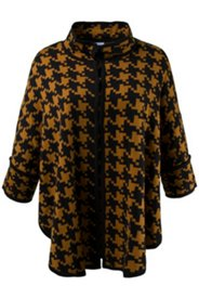 Houndstooth Sweater Cape