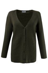 Ribbed V-neck Cardigan Sweater