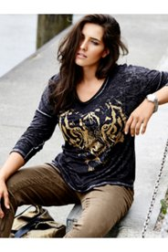 Grommet Tiger Knit Top