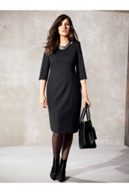Stretch Knit Perfect Black Dress