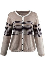 Varied Striped Sweater Cardigan