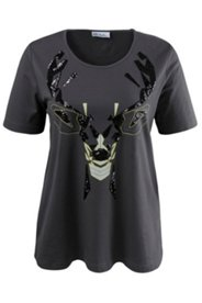 Deer Sequin Design Tee
