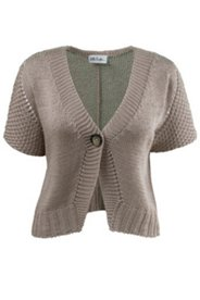 One Button Crop Cardigan Sweater