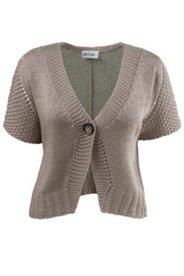 One Button Crop Cardigan Sweater