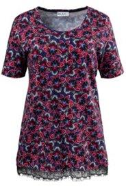 Floral Leaf Print Knit Tunic