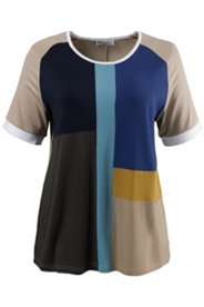 Multi Colorblock S/S Knit Top
