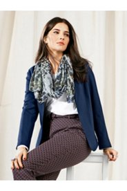 Stretch Shawl Collar Cropped Blazer