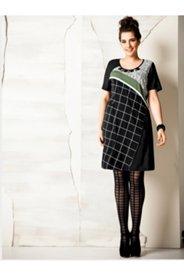Colorblock Jewel Neck Knit Dress