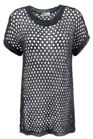 Open Weave S/S Dolman Sweater