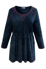 Overlock Stitch Knit Tunic
