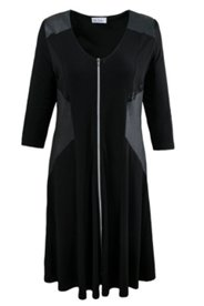 Zip Front Knit Dress