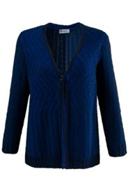 Two Tone One Button Cardigan Sweater