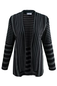 Mixed Stripe Knit Cardigan