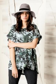 Washed Floral Print Tunic