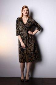 Scroll Print Knit Dress