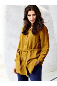 Belted Button Front Blouse